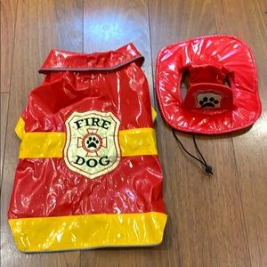 Firefighter Dog Costume Size Small